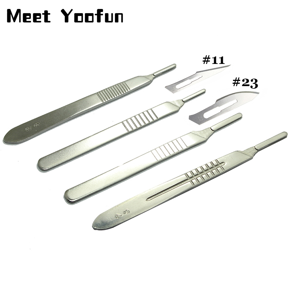 11 Pcs/set Scalpel Blades Knife 11 Blade Scalpel Carbon Steel Scalpel Blade 23 Surgical Blades DIY Cellphone Repair Tools