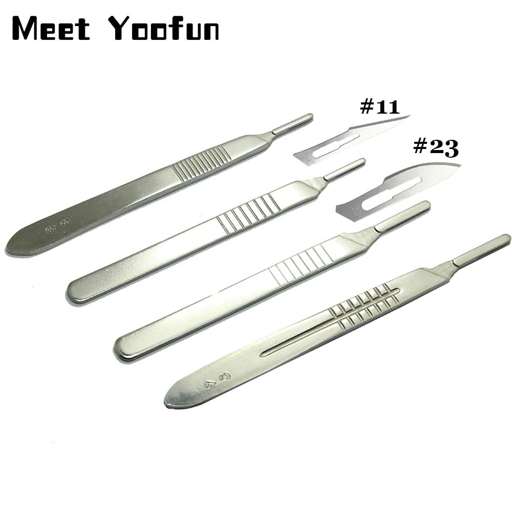 11 Pcs/set Scalpel Blades Knife 11 Blade Scalpel Carbon Steel Scalpel Blade 23 Surgical Blades DIY Cellphone Repair Tools
