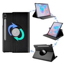 Tablet Case for Samsung Galaxy Tab S6 10 5 2019 PU Leather Rotation Case Cover for Samsung Galaxy Tab S6 SM-T860 SM-T865 funda cheap NoEnName_Null Protective Shell Skin Solid 10 5inch Business for Samsung Galaxy Tab S6 10 5 SM-T860 SM-T865 Shockproof Drop resistance