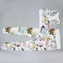 #401 de luxo designer roupas femininas elástico compressão leggings impressão floral correndo jogger agasalho para yoga feminino conjunto