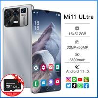 Xiaomi Mi11 Ultra 6.7 pollici versione globale Smartphone schermo intero 16 512GB Android 11.0 6800mAh 32 50MP sbloccato 4G 5G cellulare