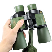 10 x 50 Powerful Binoculars for Adults Durable Full-Size Clear Telescope Night Vision Bird Watching Travel Hunting Wildlife(China)