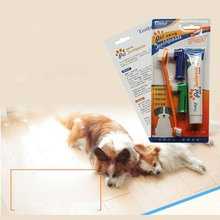 Pet toothbrush set cat and dog toothbrush toothpaste set Two finger set four piece set solve the dog oral odor teeth white 1 pcs 8in1 cat stain and odor exterminator nm jfc s