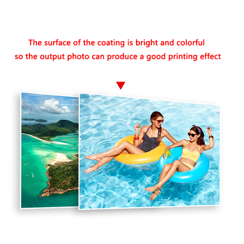 100Sheets Glossy A4 Photo Paper for Inkjet Printer Paper Imaging Supplies Printing Paper Photographic Color Coated