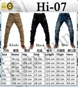 Image 3 - 2019 New Khaki Motorcycle Pants Black Men Moto Jeans Zipper Protective Gear Blue Motorbike Trousers Motocross Pants Moto Pants