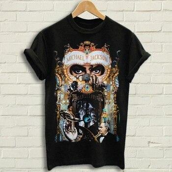 Michael Jackson Dangerous Summer Fashion Letter Printed 2019 Men'S Casual Print Short Sleeve Cross Cotton T Shirts - discount item  50% OFF Tops & Tees