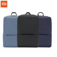 جديد الأصلي شاومي كلاسيك الأعمال حقيبة ظهر تحمل على الكتف 2 مقاوم للماء 5.6 بوصة محمول حقيبة كتف للجنسين السفر في الهواء الطلق 18L