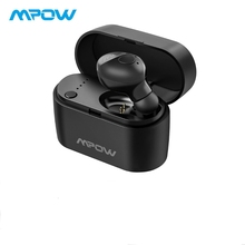 лучшая цена Mpow TOP  Bluetooth 5.0 Earbud Wireless Hands Free Earphone With Crystal Clear Microphone&Charging Case For iPhone XR/XS/X/8/7