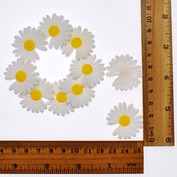 10 Uds. Sonrisa margaritas sol flores Flatback suave PVC DIY artesanía para el pelo accesorios/anillos/llavero/marcador/Marco de gafas regalo de cumpleaños