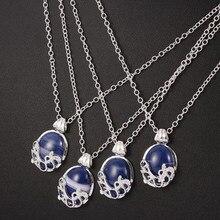 Pamiętniki wampirów Damon Style S i D niebieski emalia naszyjnik Gilbert Vintage Vervain Verbena wisiorek biżuteria dla kobiet mężczyzn kochanka