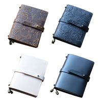 Vintage Leather Travel Journal Notebook Diary Embossed Carved Notepad Sketchbook Gift