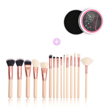 CHMAKE 15pcs Makeup brush set professional Sponge Remover Color Quick makeup cleaner