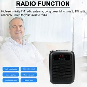 Image 4 - Microphone sans fil TR503 + haut parleur amplificateur vocal Portable avec Radio FM lecteur MP3 PR16R pour la formation des enseignants