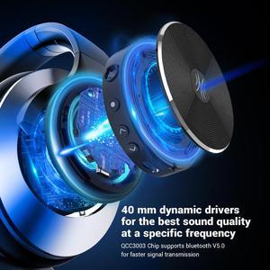 Image 4 - Oneodio A10 ANC Bluetooth 5.0 kulaklık kablosuz kulaklık üzerinde kulak aktif gürültü önleyici mikrofonlu kulaklıklar hızlı şarj