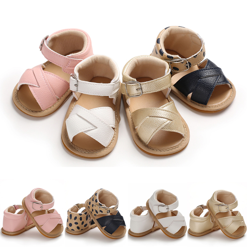 Pudcoco US Stock Fashion Newborn Infant Baby Girls 0-18M Sandals Prewalker Non-slip PU Leather Shoes