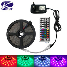 Free Shipping hot 3528 RGB led strip light 5M 300SMD led stripe 24keys SMD IR Remote Controller 5050 led stripe rgb