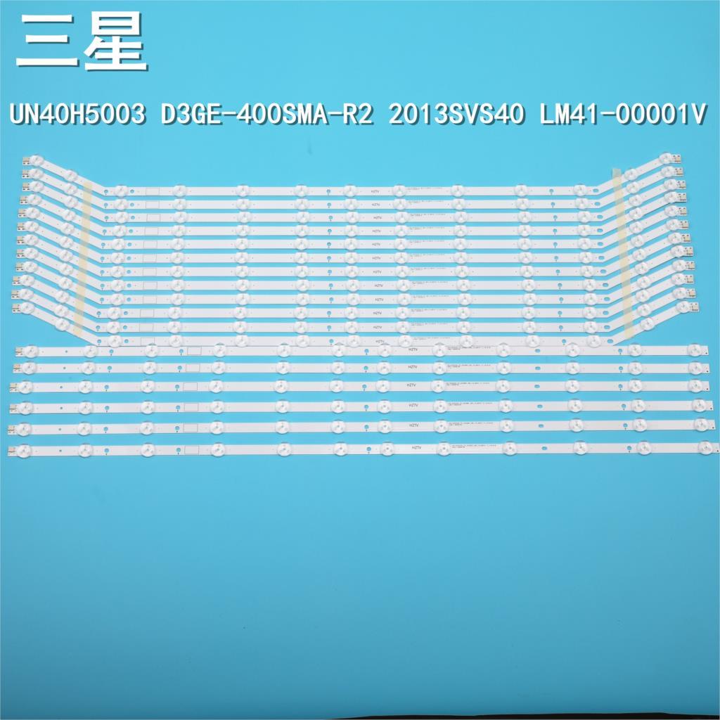 6set=18pcs 12/13LED 76CM LED Strip For Samsung UH40H6203AF 2013SVS40 LM41-00001V LM41-00001W BN96 28766A 28767A D3GE-400SMA-R2