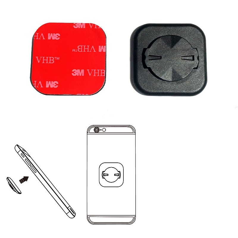 Bike Phone Sticker Adapter Stem Extension Computer Front Mount Holder For Garmin