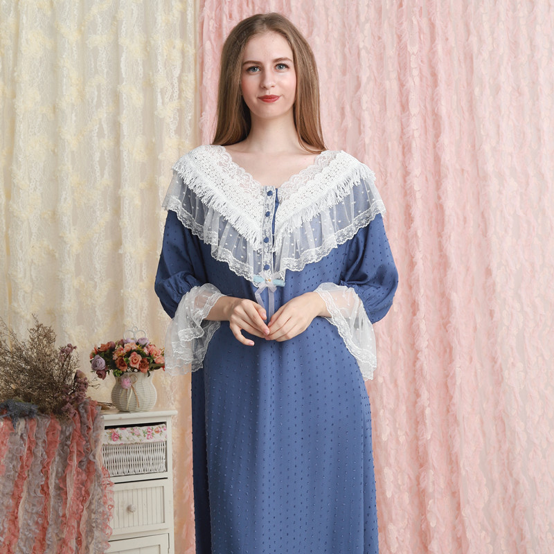 Woman Nightgown Summer Sleepwear Night Gown Loose And Comfortable 7 Color