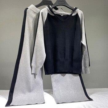 2 Piece Sweater Tracksuits Women Harrem Pants + women 7