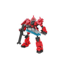 hot LegoINGlys creators Super Robot war gundam Char Zaku red mini micro diamond building blocks model nano bricks toys for gifts cool robot anime fans gundam backpack zion hero char aznable s custom backpack red and black color for selection ab227