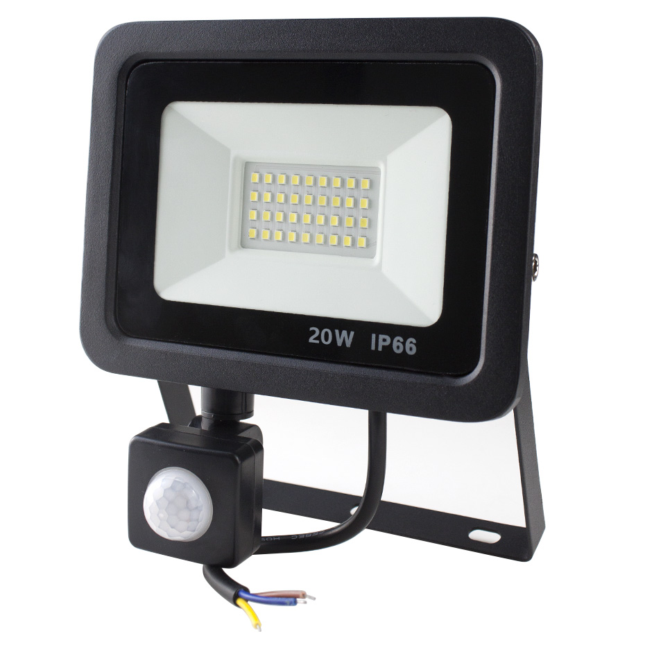 PIR Motion Sensor <font><b>Floodlight</b></font> 50W 30W <font><b>20W</b></font> 10W <font><b>Led</b></font> Flood Light Spotlight AC220V IP65 Outdoor garden Garage <font><b>LED</b></font> Wall Lamp Lighting image
