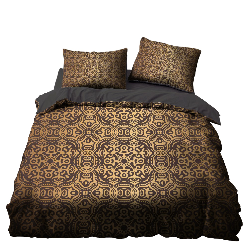 Golden Indian Totem Luxury Bedroom Decor Bedspread Black Background Microfiber Hypoallergenic Zipper 1pc Duvet Cover Pillowcases Bedding Sets Aliexpress,Beautiful Images Of Coffee Mugs