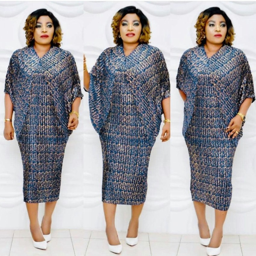 African Dresses For Women 2019 Elegent Fashion Style African Women Midi Dress