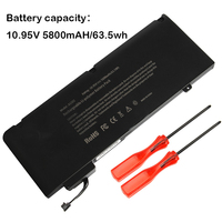 10.95V 63.5Wh Laptop Battery For APPLE MacBook Pro 13 A1322 A1278 ( 2009 2012 year ) MB990 MB991 MC700 MC374 MD313 MC724
