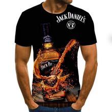 Новинка лета 2020 Мужская футболка с 3D принтом Повседневная мужская футболка с коротким рукавом модная хип-хоп