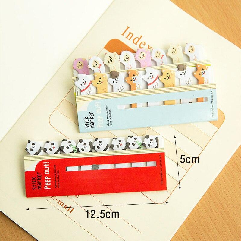 Mini Cartoon Animal Cat Bear Memo Pad Refrigerator Sticker Desk Cabinet Warm Reminder Message School Office Stationery