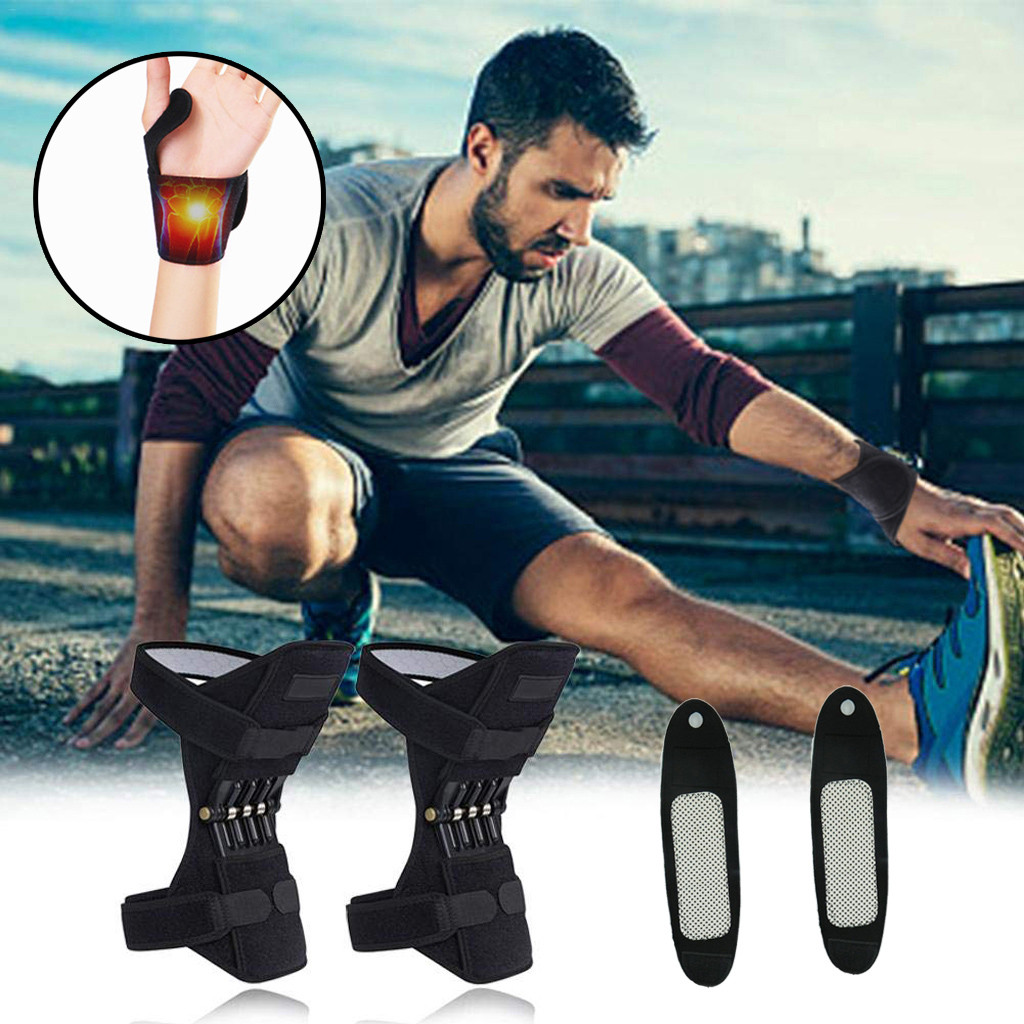 Breathable Non-slip Joint Support Knee Pads Powerful Rebound Spring Force And Self-heating Wristband Bracers Knee Sleeve