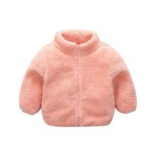 Infant Baby Boys Girls Autumn Winter Warm Plush Coat Jacket Cute Kids Outerwear(China)