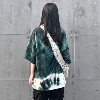 Plus Size Oversized Loose Tie Dye Hippie Hip Hop Punk Women Unisex T-Shirts Tee Tops Harajuku Streetwear Korean Fashion Retro
