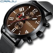 Mens Watches CRRJU Watch Men Fashion Casual Quartz