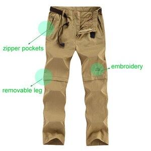 Image 3 - LOMAIYI artı boyutu erkek kargo pantolon erkekler İlkbahar/yaz çıkarılabilir siyah pantolon erkek hızlı kuru pantolon erkek rahat pantolon adam AM209