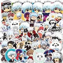 50 Pcs Stickers Kids Classic Toys Takasugi Shinsuke Cartoon Anime DIY Bus ID Card Stickers Boy Girl Gifts Toys