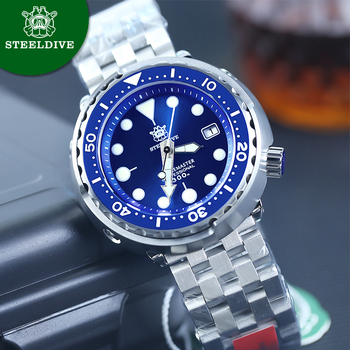 STEELDIVE Mens Mechanical Watch 300m Diver Watch NH35 Movement Sapphire Crystal Luminous Automatic Watch men