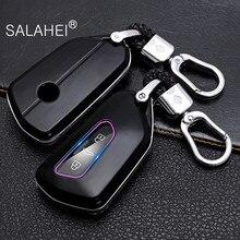Araba anahtarı kapağı VW Volkswagen Golf için 8 Mk8 2020 Skoda 3 düğmeler akıllı anahtarsız uzaktan kumanda Fob kılıfları anahtarlık tutucu aksesuar