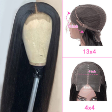 Ross Pretty Brazilian 4*4 13*4 Lace Frontal Wig Straight Virgin Hair Wigs Swiss Lace Frontal 8-30inch Wigs Baby Hair For Women
