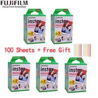 10/20/40/50/60/80/100 folhas fuji fujifilm instax mini 9 8 filmes de borda branca para a câmera instantânea instax mini 8 9 7s papel fotográfico
