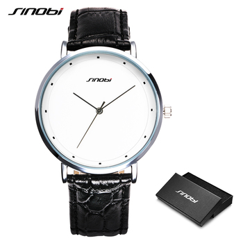 SINOBI Men Wrist Watches Fashion Simple Male Geneva Quartz Clock Stainless Steel Casual Watch Black Montres Hommes Drop Shipping