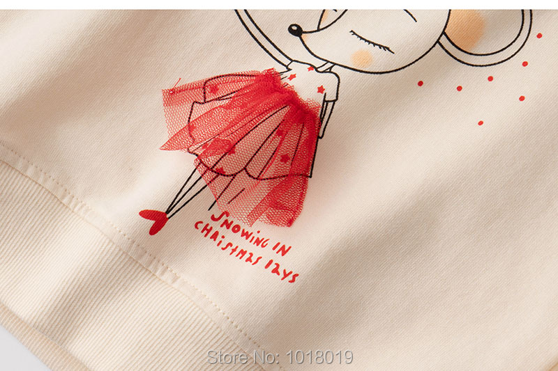 Infant Girls Tops Fleeces Sweatshirt 100% Terry Cotton Sweater Children t shirt Kids Hoodies Blouses Baby Girl Clothes Tee Mouse 6