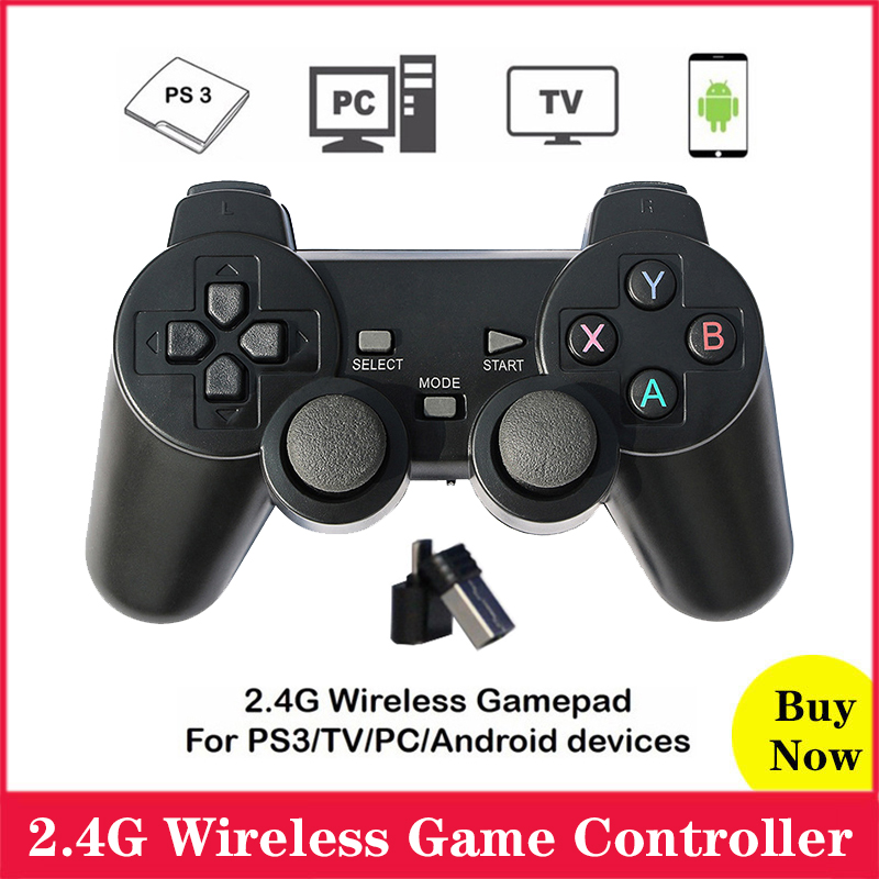 2 4G Wireless Game Controller Gamdpad Joystick for PC Laptop for PS3 TV for Android Devices for Raspberry Pi 4 3 2