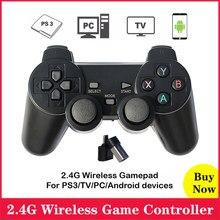 2.4g sem fio gamdpad controlador de jogo joystick para computador portátil para ps3 tv para dispositivos android para raspberry pi 4 3 2