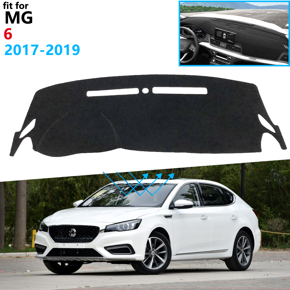 Dashboard Cover Protective Pad for MG 6 2017 2018 <font><b>2019</b></font> Car Accessories Dash Board Sunshade Anti-UV Carpet Dashmat for <font><b>MG6</b></font> image