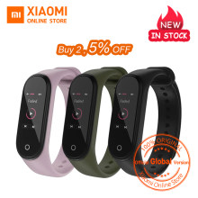 Global Versie Xiao Mi Mi Band 4 Smart Band Fitness Tracker Armband Hartslag Tracker Kleurrijke Display Instant Bericht 135 mah(China)