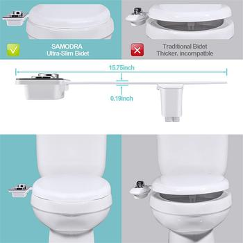 Bidet Toilet Seat Attachment Ultra-thin Non-electric Self-cleaning Dual Nozzles Frontal & Rear Wash Cold Water Personal Hygiene 5