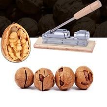 Casse-noix manuel en alliage d'aluminium avec poignée en bois, outils d'ouverture facile, hachoir à pression de Cuisine