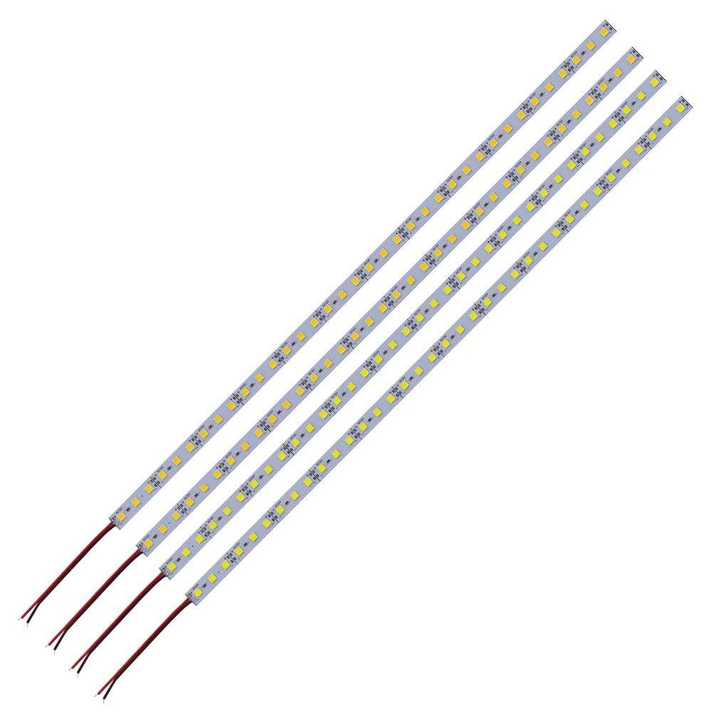 DC12V 5pcs 10pcs 20pcs LED Aluminum Bar Light Rigid Strip Led Light 25cm 50cm 5054 Cabinet Counter Lighting Blue/Pink/Green